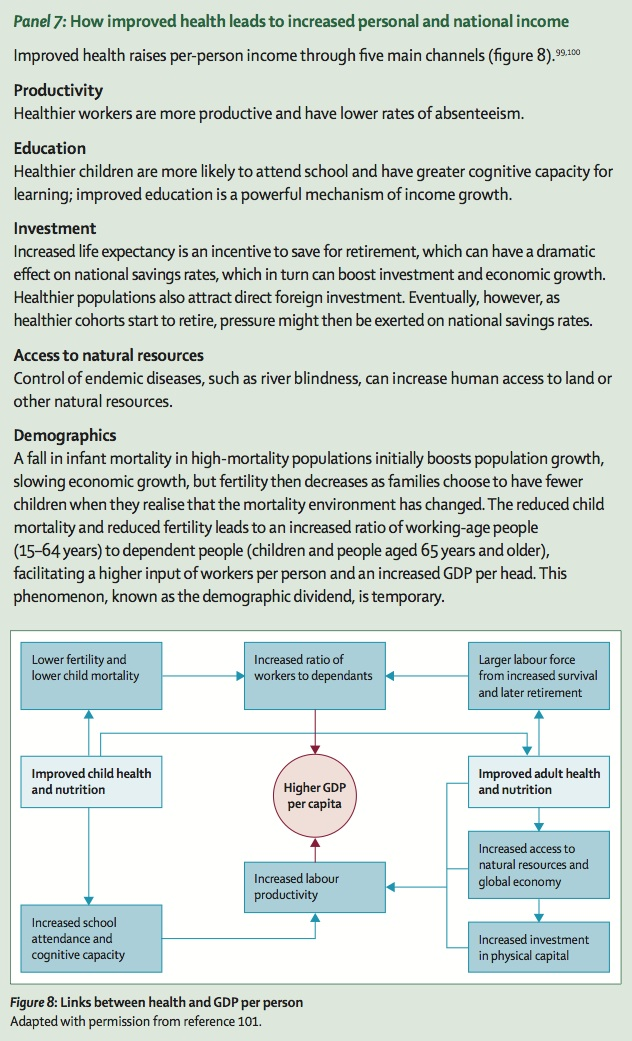 Global health 2035 a new roadmap for global health advocacy a how does investing in health effect personal and national income fandeluxe Images